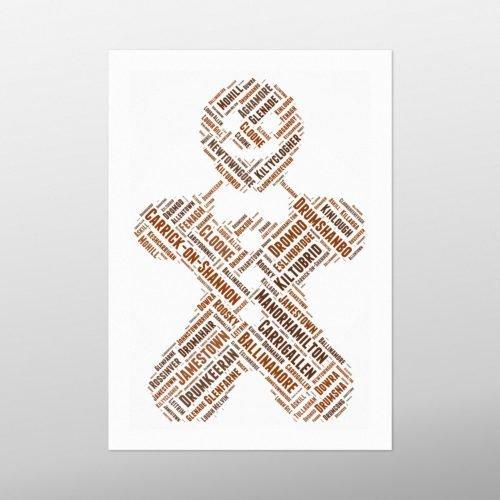 Gingerbread | wordbird.ie | Word Art Posters