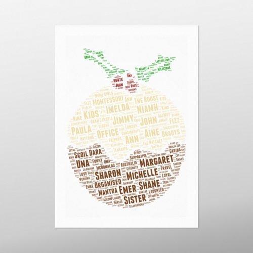 Christmas Pudding | wordbird.ie | Word Art Posters