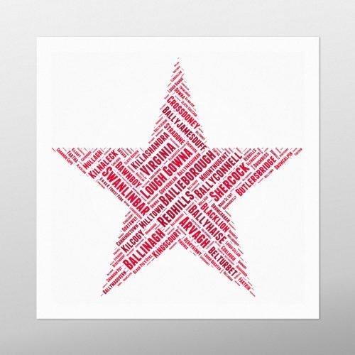 Christmas Star | wordbird.ie | Word Art Posters
