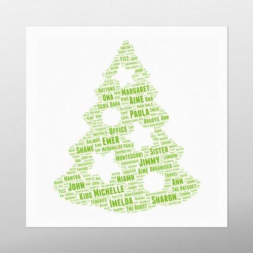 Christmas Tree | wordbird.ie | Word Art Posters