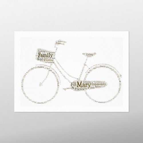 Classic Bike | wordbird.ie | Word Art Prints