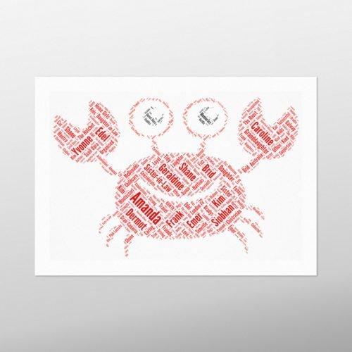 Crab | wordbird.ie | Word Art Prints & Artworks