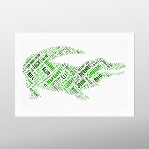 Crocodile | wordbird.ie | Word Art Prints & Artworks
