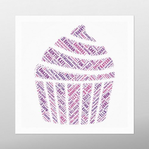 Cup Cake | Wordbird.ie | Word Art Prints | Word Clouds