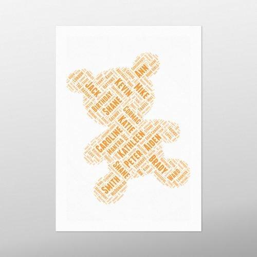 Cute Teddy Bear | wordbird.ie | Word Art Posters