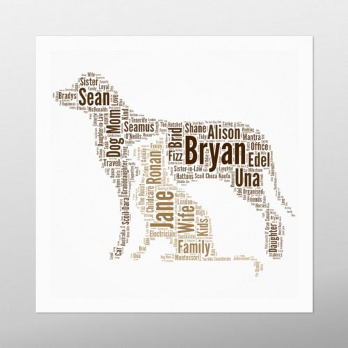 Dog and Cat | wordbird.ie | Word Art Prints & Artworks