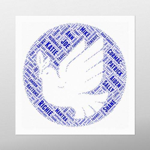 Dove in Circle | wordbird.ie | Word Art Prints