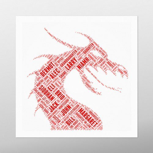 Dragon | wordbird.ie | Word Art Prints & Artworks