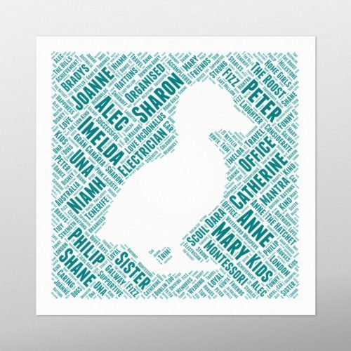 Duck in Square | wordbird.ie | Word Art Design