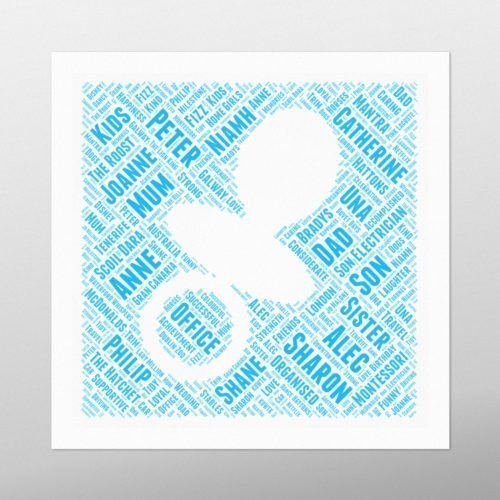 Dummy in Square | wordbird.ie | Word Art Posters