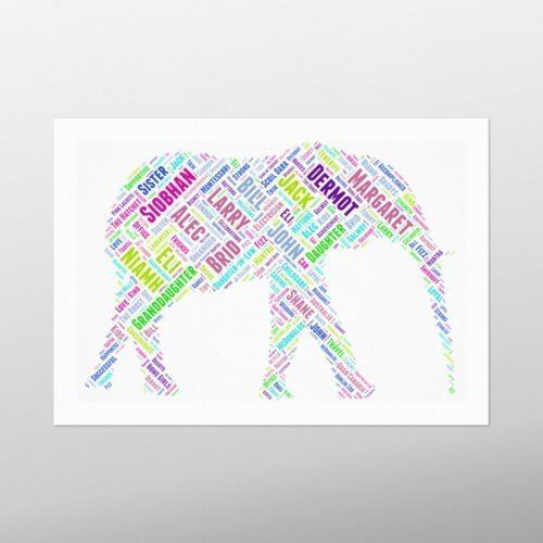 Elephant | wordbird.ie | Word Art Prints & Artworks