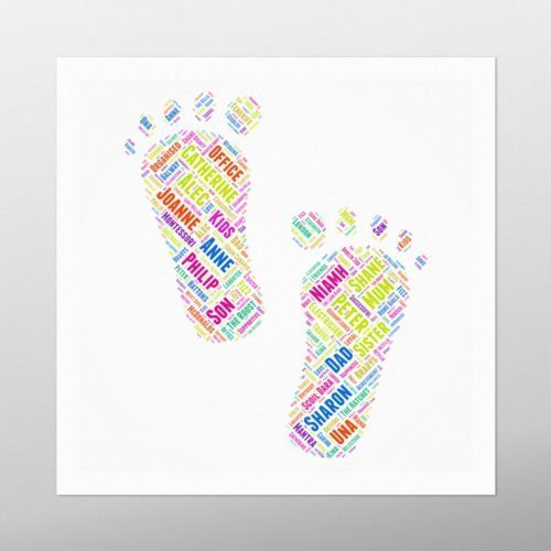 Feet   wordbird.ie   Word Art Posters