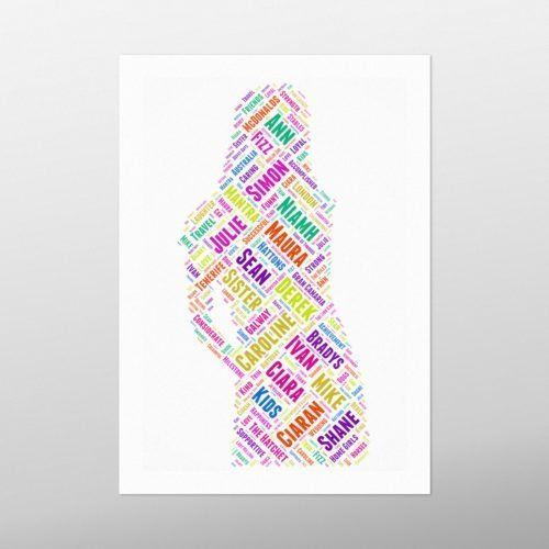 Female Figure | wordbird.ie | Word Art Posters