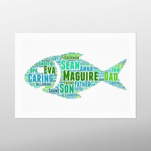 Fish   wordbird.ie   Word Art Prints