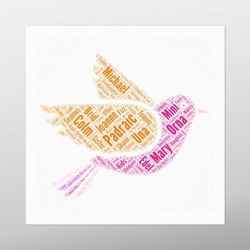 Flying Bird | wordbird.ie | Word Art Prints