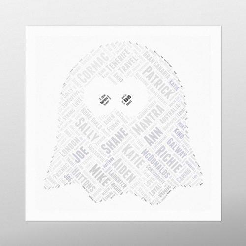 Ghost | wordbird.ie | Word Art Posters