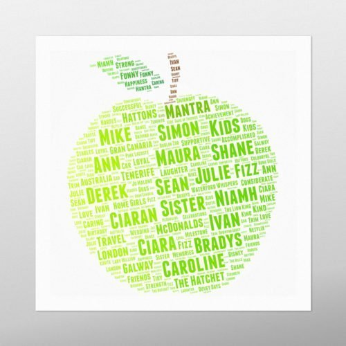 Green Apple | Wordbird.ie | Word Art Prints | Word Clouds