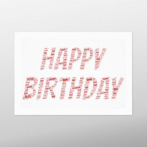Happy Birthday | wordbird.ie | Word Art Prints