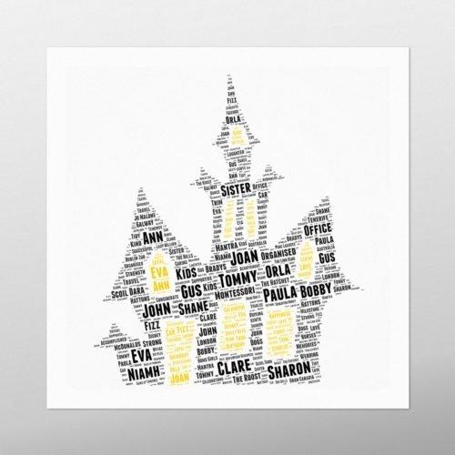 Haunted House | wordbird.ie | Word Art Posters