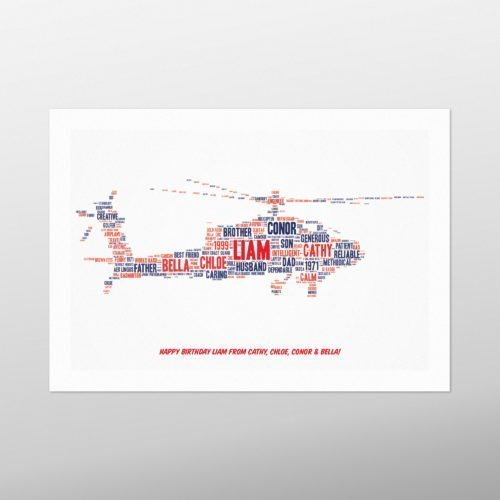 Helicopter | wordbird.ie | Word Art Design