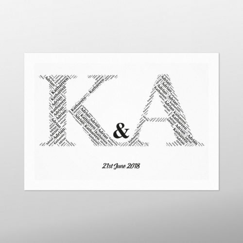 Initials | wordbird.ie | Word Art Prints