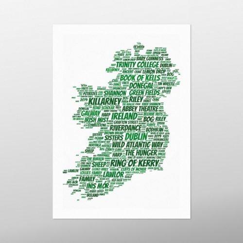 Ireland | wordbird.ie | Word Art Posters