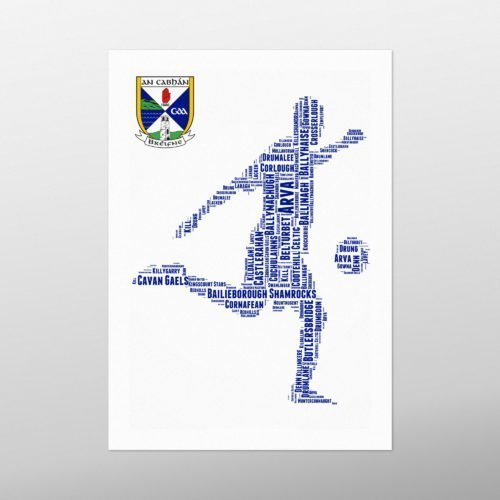 Kicking Football | wordbird.ie | Word Art Posters