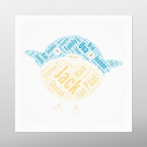 Large Bird | wordbird.ie | Word Art Prints