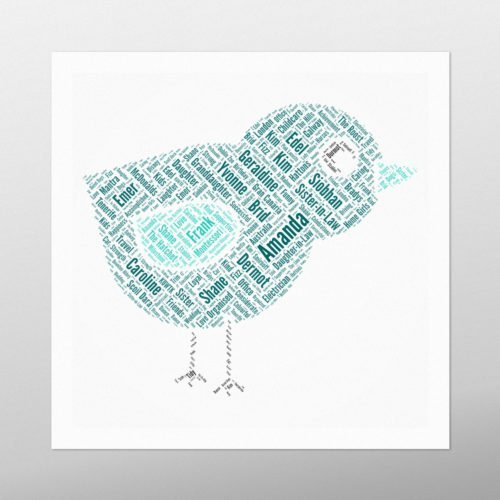 Little Bird | wordbird.ie | Word Art Prints