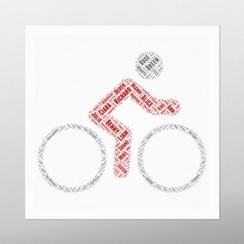 Man on Bike | wordbird.ie | Irish Word Art Prints