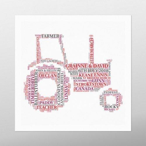 Massey Ferguson Tractor | wordbird.ie | Word Art Prints