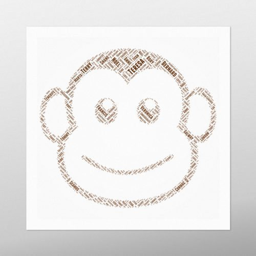Monkey Face | wordbird.ie | Childrens Word Art Prints