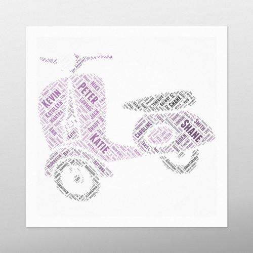 Motor Scooter | wordbird.ie | Irish Word Art Prints