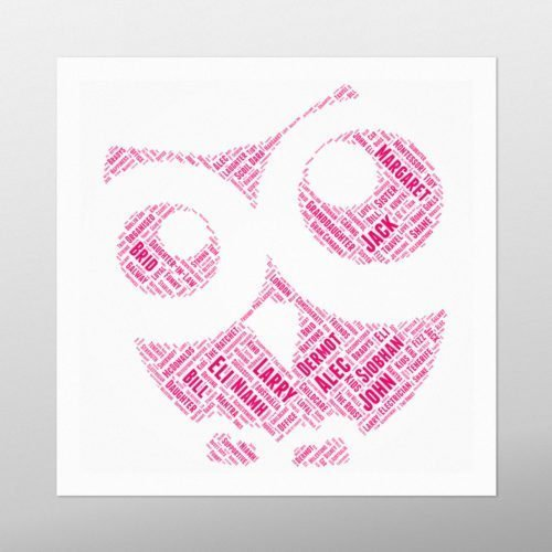 Owl | wordbird.ie | Word Art Prints