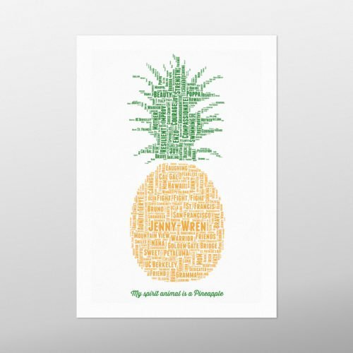 Pineapple | Wordbird.ie | Word Art Prints | Word Clouds