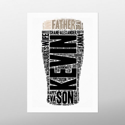 Pint | Wordbird.ie | Word Art Prints | Word Clouds