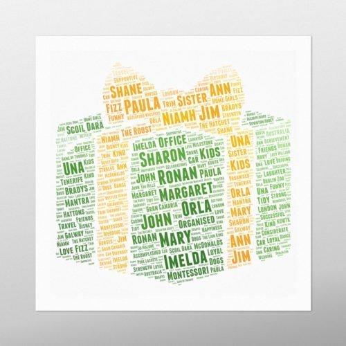 Present | wordbird.ie | Word Art Prints