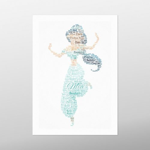 Princess Jasmine | wordbird.ie | Word Art Prints