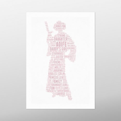 Princess Leia | wordbird.ie | Word Art Posters
