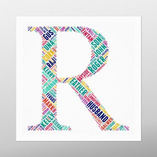 Letter R | wordbird.ie | Word Art Ideas