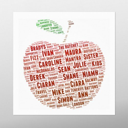 Red Apple | Wordbird.ie | Word Art Prints | Word Clouds