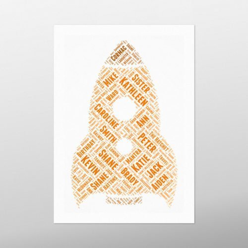 Rocket | wordbird.ie | Word Art Posters