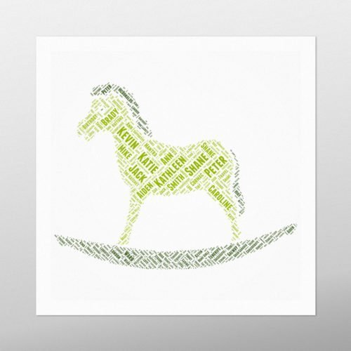 Rocking Horse | wordbird.ie | Word Art Prints