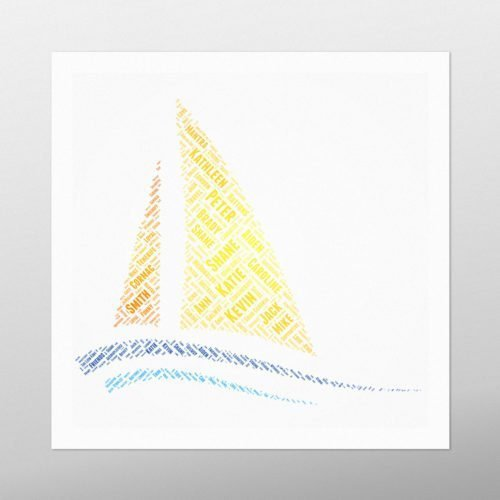 Sail Boat | wordbird.ie | Irish Word Art Prints