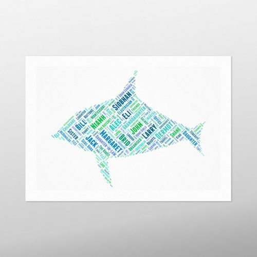 Shark   wordbird.ie   Word Art Prints