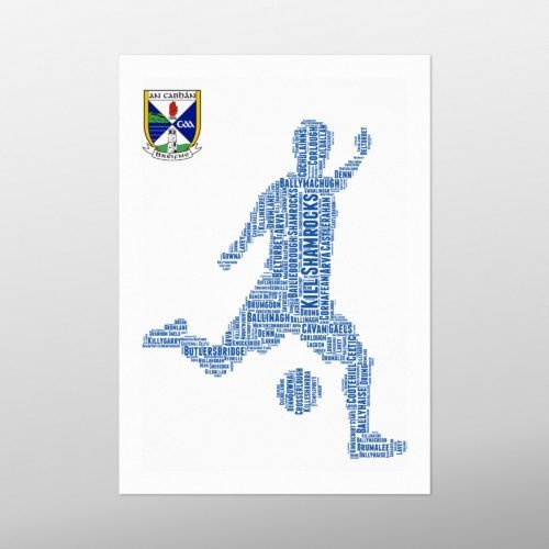 Shooting Football | wordbird.ie | Word Art Prints