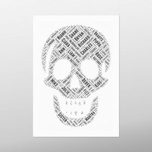Skull | wordbird.ie | Word Art Posters