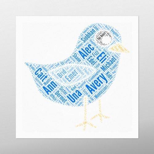 Small Bird | wordbird.ie | Word Art Posters