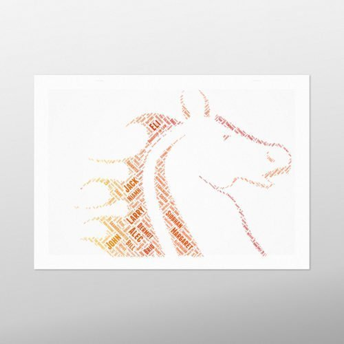 Stallion | wordbird.ie | Irish Word Art Prints