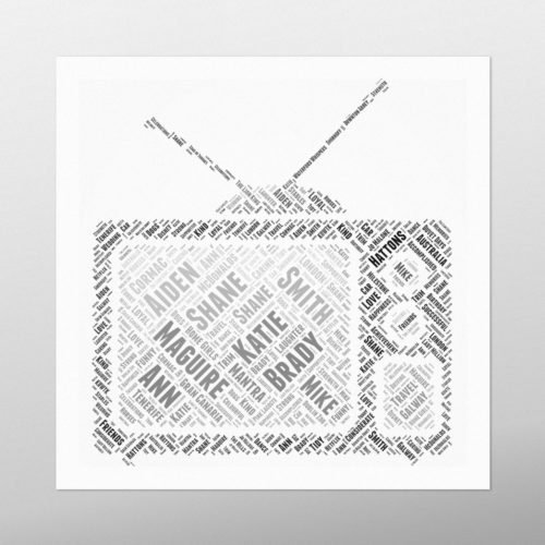 TV | wordbird.ie | Word Art Posters
